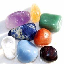 CHARGED 7 Chakra Crystal Set Hand-Carved & Polished  REIKI Energy! ZENERGY GEMS™