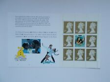 1997 SG 1668L 1st and 26p Gold x 4 + Label Prestige Booklet Pane Ex-BBC DX19 U/M