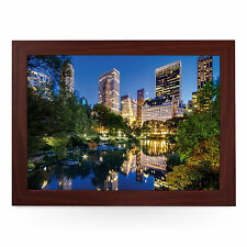 Central Park New York At Night - Personalised Padded Lap Tray Laptray L0178