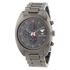 Emporio Armani Uhr AR5913 Sportivo Herren Chronograph Edelstahl Grau Armbanduhr