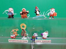 La serie de 8 figurines kinder 2013 avec 8 BPZ noel
