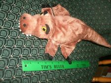 """Hand / Glove Puppet ~ Brown DINOSAUR ~ Plush ~ CALTOY ~ Approximately 14"""" ~ NEW"""