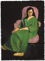 HENRI MATISSE LAURETTE IN GREEN ROBE LIMITED EDITION ART PRINT 5x7 woman lady