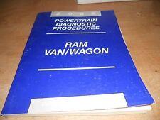 2002 DODGE RAM VAN WAGON POWERTRAIN SHOP MANUAL