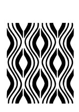 High Detail Repeat Wave Airbrush Stencil - Free UK Postage