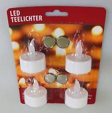 32 St. Teelichter LED Teelicht Batterie Kerzen mit Batterie Batteriekerze