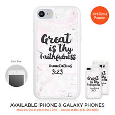 Great is thy Faithfulness Case Silicone Frame Bumper for iPhone Galaxy LG Google