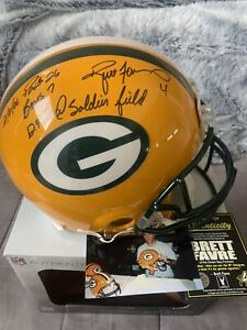 BRETT FAVRE AUTOGRAPHED PACKERS AUTHENTIC NFL HELMET...LIMITED EDITION..