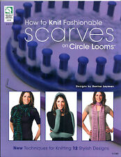 SALE! LOOM PATTERN BOOK! MAKE 12 SCARVES ON KNIFTY KNITTER~SIMILAR ROUND LOOMS