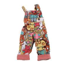 Cute Monsters Pattern Jumpsuit Suspender Trousers for 1/4 BJD SD DZ Clothes
