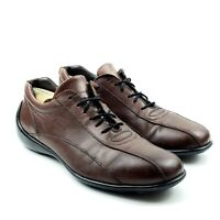 To Boot New York 388 Brown Leather Sneakers Casual Oxford Shoes Mens Sz.10.5