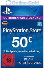 50€ EUR Playstation Network Card - 50 EURO PSN Prepaid Key PS3 PS4 PS Vita - DE