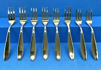 Lot of 8 NEW Italian Design CO. ALESSI for DELTA AIRLINES Cocktail Dessert Forks