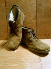 Vtg Unbranded Italian Leather Chukka Boot Men's 10 44 Suede Shearling Bench Made