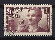 "France 1938 ""La radio aux aveugles"" Yvert n° 418 oblitéré 1er choix (1)"