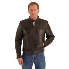 Osx New Men Black Vespa Waxy Cowhide Biker Leather Jacket Bomber Bike Rock