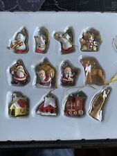 "Miniature Dollhouse Mini CHRISTMAS Tree ~ 12 1"" Resin  Rustic Ornaments Santa"