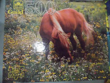 Golden Guild 500 Pc Puzzle Horse Grazing New and Sealed