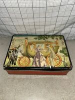 1940's Helen Harrison's Home Made Candies Tin, Hinged, Chicago, IL, vintage old