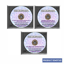 3 CD SUBLIMINAL DAY TRADING SUCCESS INVESTMENT SKILLS TRADER INVESTOR WEALTH AID