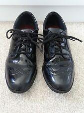 Girl's Clarks 'Sami Walk' Black Patent Leather School Shoes Size 3E