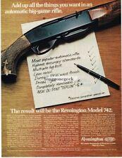 1970 Remington Model 742 Rifle Vtg Print Ad