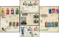 ISRAEL 1950s FIRST DAY COVERS SETS FDCs 7 ITEMS