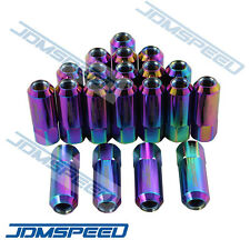 JDMSPEED 20PC NEO CHROME 60MM EXTENDED FORGED ALUMINUM TUNER RACING LUG NUTS