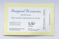 1/20/2021 President Joe Biden Kamala Harris VP Inauguration Ceremony Ticket Stub