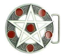 Cross Star Circle Totem Round Metal Belt Buckle