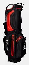 STADRY Golf Stand Bag 100% Waterproof ultralightweight 3 way top - black + red