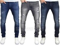 Jack & Jones Men's Glenn Slim Fit Stretch Ripped Distressed Jeans, BNWT