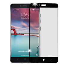 BLACK FULL COVERAGE TEMPERED GLASS SCREEN PROTECTOR FOR ZTE BLADE X MAX Z983