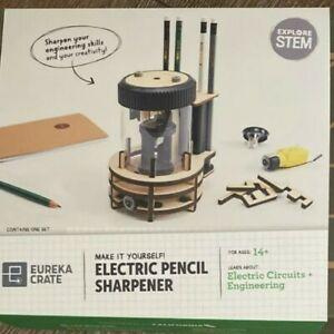 Kiwico Eureka Crate. Electric Pencil Sharpener.  Ages 14+ Missing Instructions