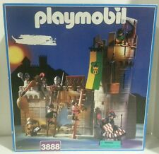 VINTAGE Playmobil Knights Castle Defenders 3888 99% Complete W/ Original Box
