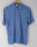 Brooks Brothers men's M 346 Performance Polo original blue white stripe medium