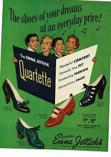 1950 ENNA JETTICK Women's Ladies shoes art Vintage Ad v