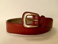 """BALLY Calf Skin Brown Leather Belt 105/90 36"""" Made in Italy"""