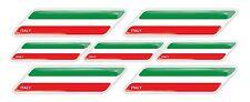Italy Italian flag 3d domed emblem decal sticker Lamborghini Ferrari Fiat Ducati