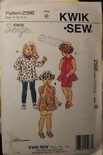 UNCUT Kwik Sew 2596 Toddler's Tunics, Leggings & Shorts, sizes T1, T2, T3, T4