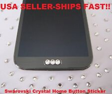 Bling/Swarovski Crystal Home Button Samsung Galaxy s3, s4, s5, Note 2,3,4,5,6,7