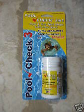 Pool Check 3 in 1, 3 way Pool/ Spa/ Hot Tub Water Test 50ct 481335