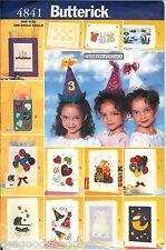 Butterick 4841 Primrose Cottage Crafts Party Cards Bags Hats Pattern UNCUT FF