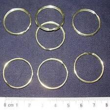 20 SPLIT RINGS / KEYRINGS, GOLD PLATED 25mm O. D.