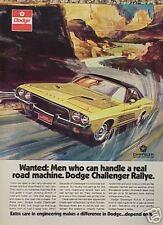 1973 Dodge Challenger Rallye ORIGINAL Vintage Ad CMY STORE 4MORE   5+= FREE SHIP