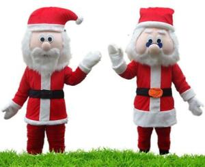 Halloween Santa Claus Mascot Costume Suits Cosplay Party Clothing Carnival Adult