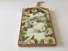 Marjolein Bastin Demdaco Natures Journeys Christmas Ornament white snow bunny
