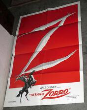 THE SIGN OF ZORRO original DISNEY 27x41 one sheet movie poster GUY WILLIAMS
