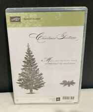 Stampin Up SPECIAL SEASON Evergreen Christmas Tree Holiday Cling Rubber Stamps