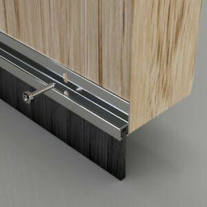 Door Draught Excluder Seal Brush Strip Bar 25mm Silver Heat Seal Energy Savings